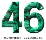 arabic numeral 46  forty six ... | Shutterstock . vector #1112086760