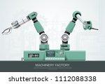 industrial machine robotic... | Shutterstock .eps vector #1112088338