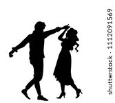 dancing couple silhouette   Shutterstock .eps vector #1112091569