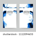set of vector business card... | Shutterstock .eps vector #1112094653