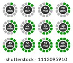 timer icons set  twelve timer... | Shutterstock .eps vector #1112095910