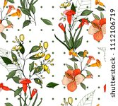 botanical motifs. isolated... | Shutterstock .eps vector #1112106719