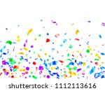 red blue green yellow glowing... | Shutterstock .eps vector #1112113616