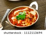 pure veg indian cheese cottage... | Shutterstock . vector #1112113694