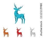 lowpoly deer logo cool... | Shutterstock .eps vector #1112115980