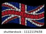 waving great britain state flag ... | Shutterstock .eps vector #1112119658