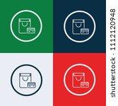 online shopping icon. vector... | Shutterstock .eps vector #1112120948