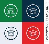 warehouse icon. vector... | Shutterstock .eps vector #1112121020