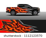 truck and car graphic...   Shutterstock .eps vector #1112123570