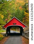 A Quaint Covered Bridge Crosses ...