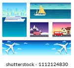 variations transport of travel... | Shutterstock . vector #1112124830