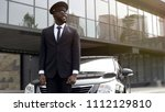 personal driver waiting for... | Shutterstock . vector #1112129810