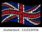 waving english state flag on a...   Shutterstock .eps vector #1112134556