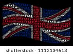 waving english state flag on a... | Shutterstock .eps vector #1112134613