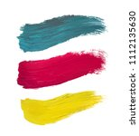 color vector oil paint brushes... | Shutterstock .eps vector #1112135630