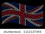 waving uk official flag on a... | Shutterstock .eps vector #1112137343