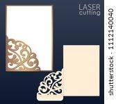 laser and die cut pocket... | Shutterstock .eps vector #1112140040