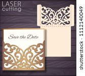 laser and die cut pocket... | Shutterstock .eps vector #1112140049