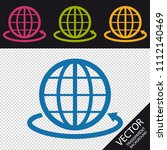 globe sign and round the world... | Shutterstock .eps vector #1112140469