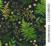seamless pattern with leaves.... | Shutterstock .eps vector #1112148410