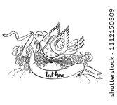 Lady Bird Flying With Scroll...