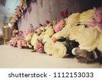 beautiful wedding flower... | Shutterstock . vector #1112153033