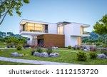 3d rendering of modern cozy... | Shutterstock . vector #1112153720