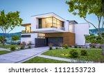 3d rendering of modern cozy... | Shutterstock . vector #1112153723