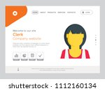 quality one page clerk website... | Shutterstock .eps vector #1112160134
