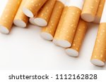cigarette close up isolated on...   Shutterstock . vector #1112162828