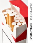 cigarettes in a pack close up...   Shutterstock . vector #1112162840