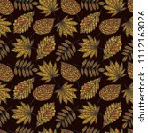 autumn beige seamless stylized... | Shutterstock .eps vector #1112163026
