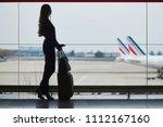 young woman in international... | Shutterstock . vector #1112167160