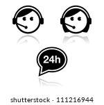 customer service icons set  ... | Shutterstock .eps vector #111216944