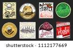 vintage american badge.... | Shutterstock .eps vector #1112177669