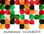 round square geometric shapes... | Shutterstock .eps vector #1112182373