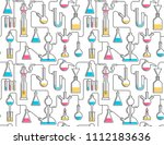seamless pattern from chemical... | Shutterstock .eps vector #1112183636