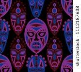 vector illustration. ethnic... | Shutterstock .eps vector #1112187638