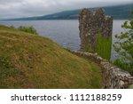 urquhart castle over loch ness  ... | Shutterstock . vector #1112188259