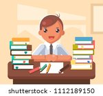student learn table school... | Shutterstock .eps vector #1112189150