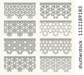 set of black seamless borders ... | Shutterstock .eps vector #1112189183