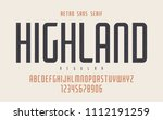 highland vector condensed... | Shutterstock .eps vector #1112191259