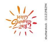 happy summer 2018. seasonal... | Shutterstock .eps vector #1112198294