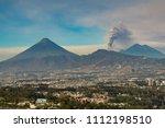 fuego volcano eruption in... | Shutterstock . vector #1112198510