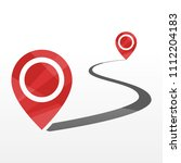 curve road map with start and...   Shutterstock .eps vector #1112204183
