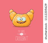 vector funky cartoon cute... | Shutterstock .eps vector #1112205629