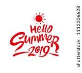 hello summer. 2019. bright... | Shutterstock .eps vector #1112206628