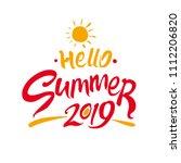 hello summer. 2019. bright... | Shutterstock .eps vector #1112206820