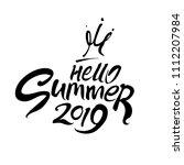 hello summer 2019. flat... | Shutterstock .eps vector #1112207984