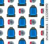 child car seat seamless pattern ... | Shutterstock .eps vector #1112208590
